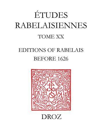 ebook - A New Rabelais Bibliography : Editions of Rabelais before...